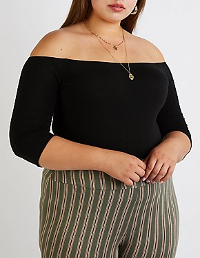 Plus Size Off The Shoulder Bodysuit
