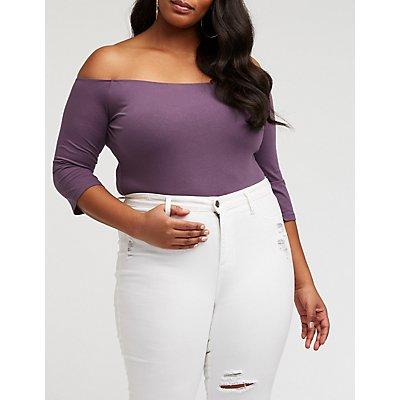 Plus Size Off The Shoulder Bodysuit