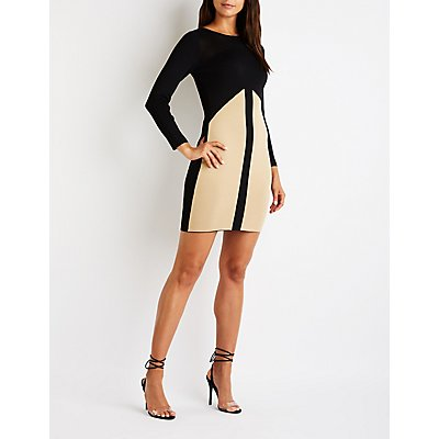 Colorblock Midi Sweater Dress