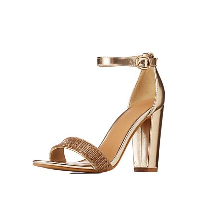 Bamboo Crystal Ankle Strap Sandals