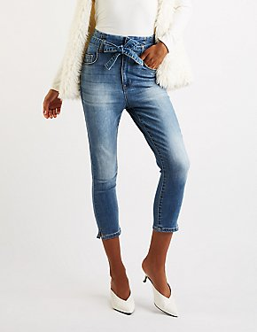 Refuge Paperbag Skinny Jeans