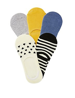 Printed Shoe Liners - 5 Pack
