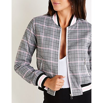 Plaid Bomber Jacket