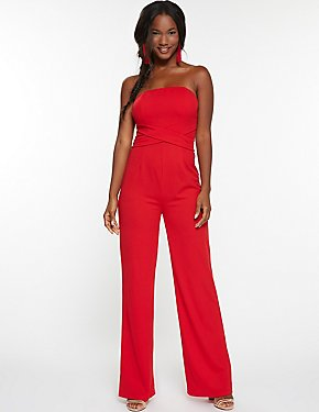 Strapless Tie Back Jumpsuit