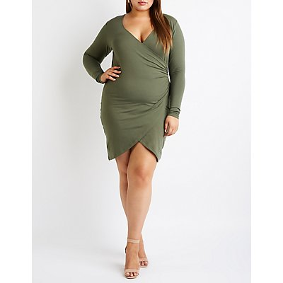 Plus Size Wrap Bodycon Dress