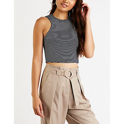 Striped Crop top