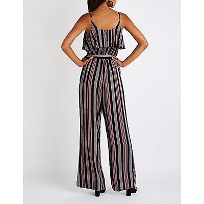 Printed Ruffle Trim Jumpsuit