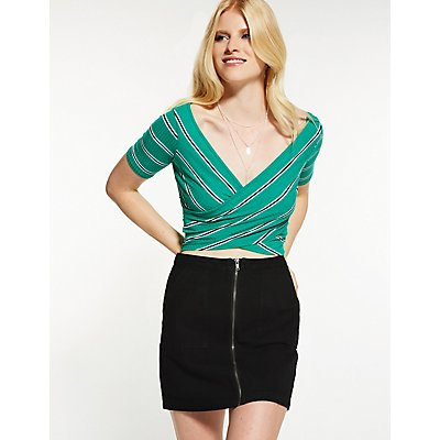 Refuge Zip Up Mini Skirt
