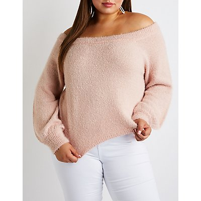 Plus Size Off The Shoulder Top