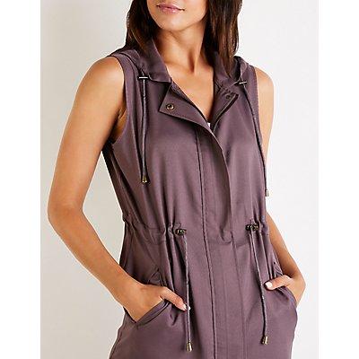 Hooded Zip Up Vest