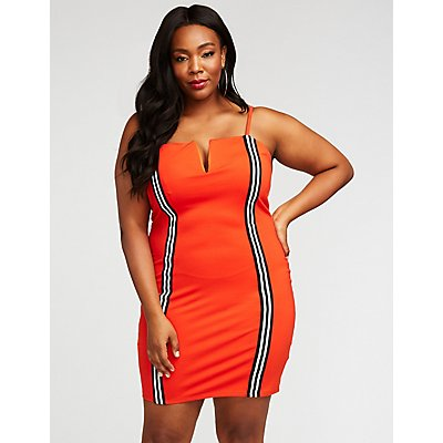 Plus Size Racer Stripe Bodycon Dress