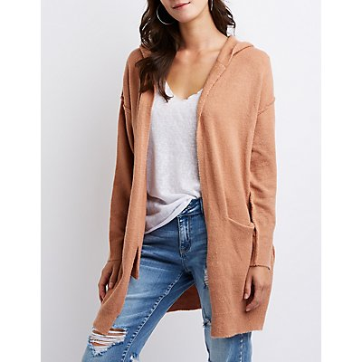 Hooded Open Front Cardigan