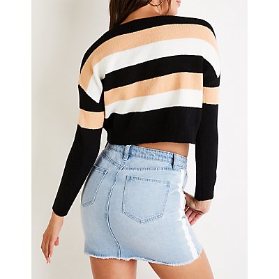 Striped Crop Sweater