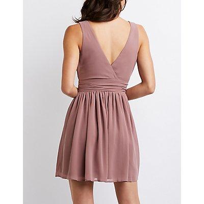 Wrap Skater Dress
