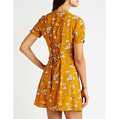 Floral Button Up Dress