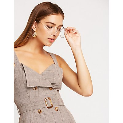 Double Breasted Button Up Dress