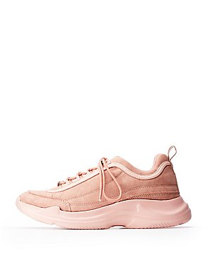 Faux Suede Chunky Sneaker