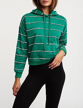 Striped Hoodie Sweater