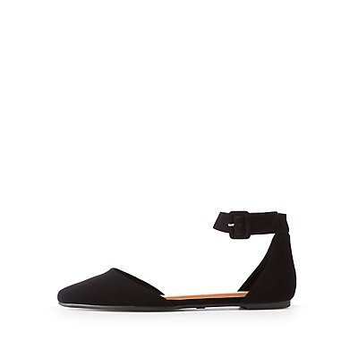 Bamboo Pointed Toe D'Orsay Flats