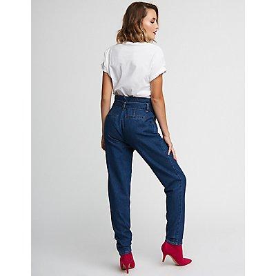 Refuge Belted Boyfriend Jeans