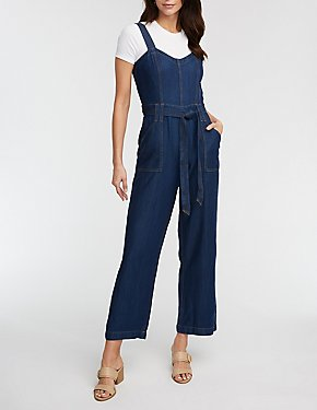 Refuge Denim Wide Leg Jumpsuit
