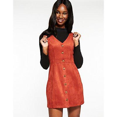 V Neck Button Up Dress