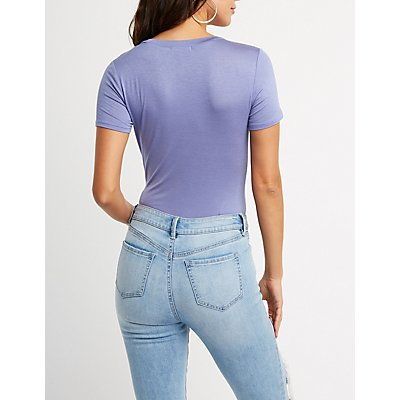 V-Neck Pocket Bodysuit