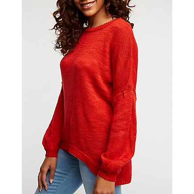 Scoop Neck Pullover Sweater
