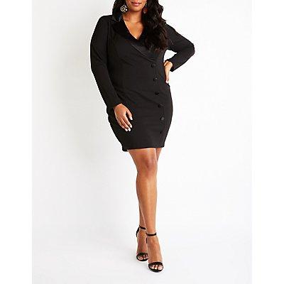 Plus Size Blazer Bodycon Dress