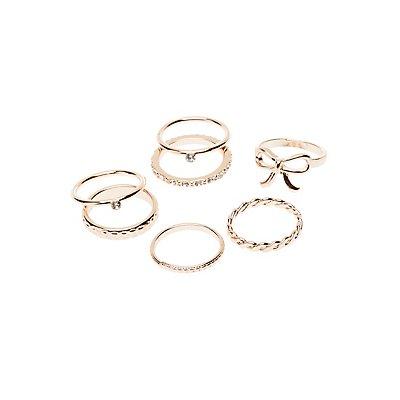 Metal Stacking Rings - 7 Pack