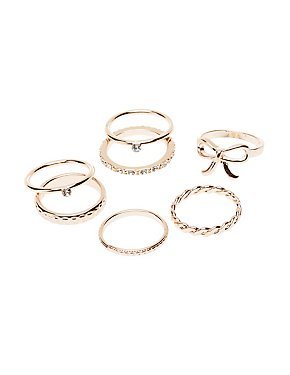 Metal Stacking Rings - 7 Pack