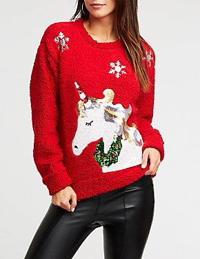 Sequin Unicorn Pullover