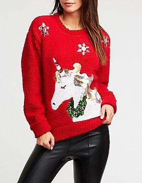 Sequin Unicorn Pullover