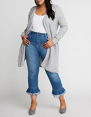 Plus Size Belted Duster