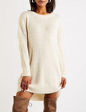 Crew Neck Sweater Dress