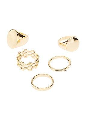 Metal Stacking Rings - 5 Pack