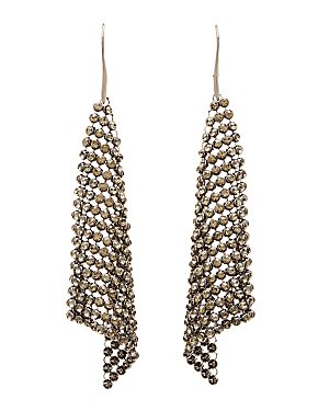 Chainlink Mesh Drop Earrings