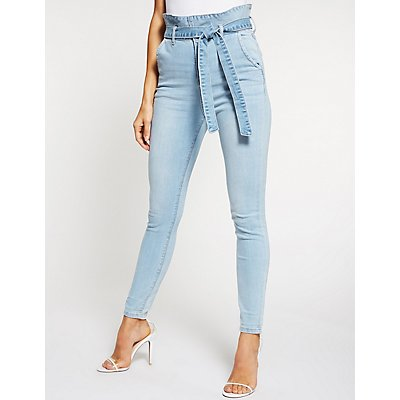 Cello Paperbag High Waist Skinny Jeans