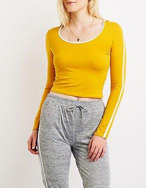 Varsity Striped Hooded Sweater