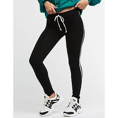 Leggings con raya lateral
