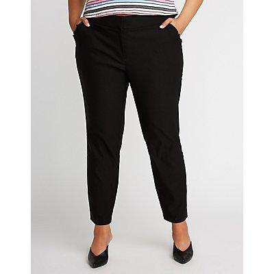 Plus Size Ruffle Skinny Trousers