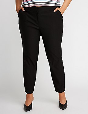 Plus Size Ruffle Skinny Trousers