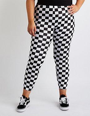 Plus Size Checkered Leggings
