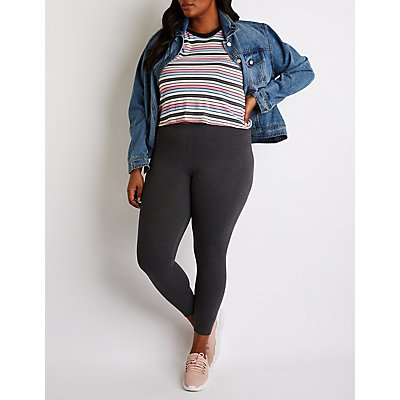 Plus Size High Waist Leggings