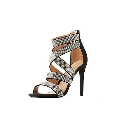 Crystal Caged Dress Sandals