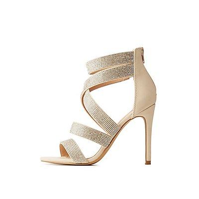 Crystal Caged Dress Sandals