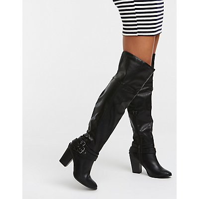 Buckle Over The Knee Boots by Charlotte Russe