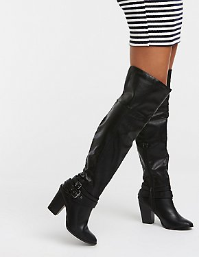 Buckle Over The Knee Boots