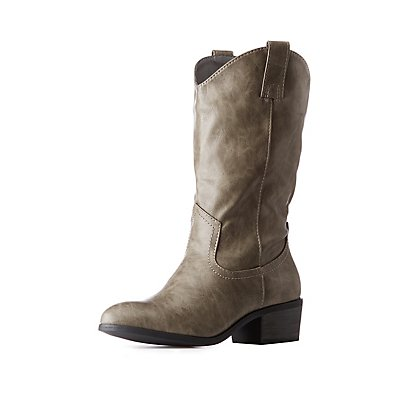 Cowgirl Mid Calf Boots