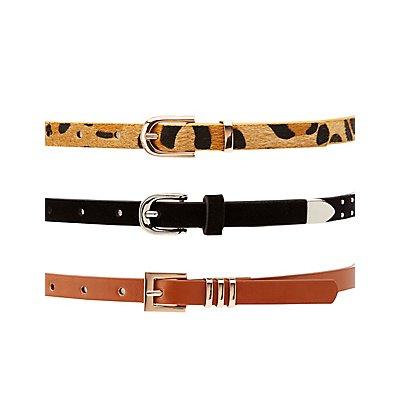 Skinny Belts - 3 Pack